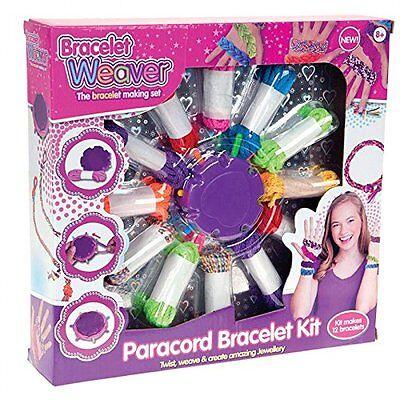 PARACORD BRACELET SET WEAVER KITS CRAFT JEWELLERY FUN GIFT TWIST CREATIVE MAKER - Armband Craft Kit