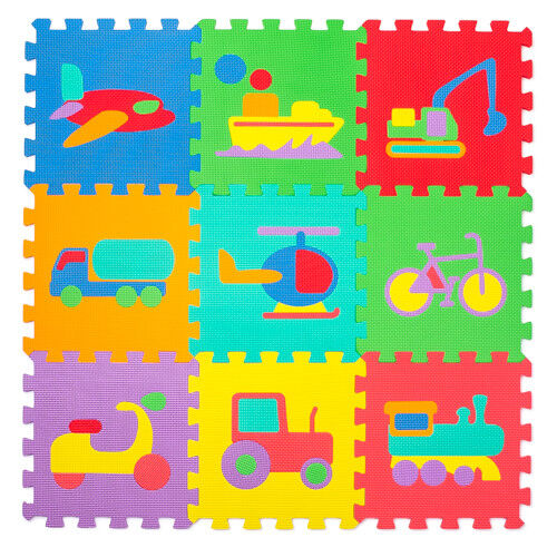 Ricokids Spielmatte Puzzlematte Spielteppich Bodenpuzzle Eva 4 Matten Verschiedene Farbvarianten blau