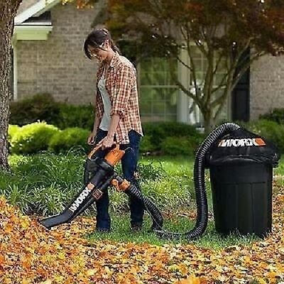 Worx Trivac Blower Mulcher And Vacuum With Leaf Pro Collection Lightweight New