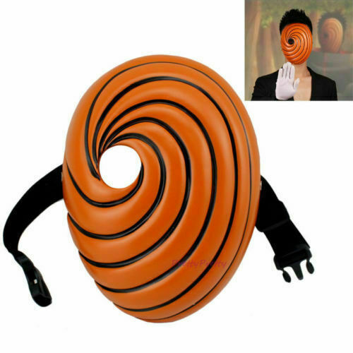 Anime Mask Naruto Akatsuki Tobi Uchiha Obito Madara Prop Halloween Party Cosplay