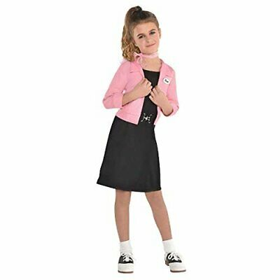 Grease, Pink Ladies Costume, Girl, Small, fits Sizes 4-6 - Pink Lady Girls Costume