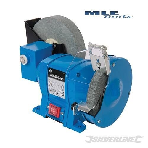 Silverline DIY 250W Wet & Dry Bench Grinder mains 150 200mm sharpening 544813