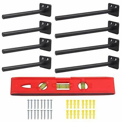 8 Pack Floating Shelf Brackets Heavy Duty Hidden Black Shelf Brackets 8 Inch ...