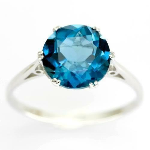 London Blue Topaz Gold Ring Ebay