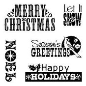 Inkadinkado Clear Stamps Christmas