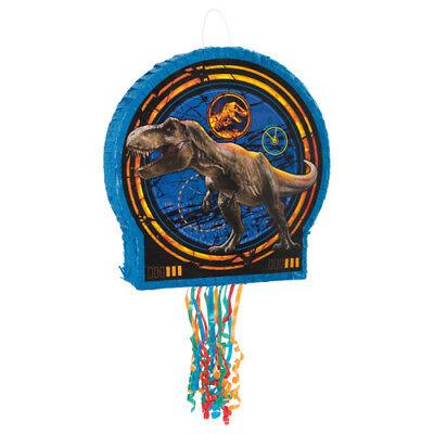JURASSIC WORLD Fallen Kingdom PULL STRING PINATA ~ Birthday Party Supplies Blue (Dinosaur Piñata)