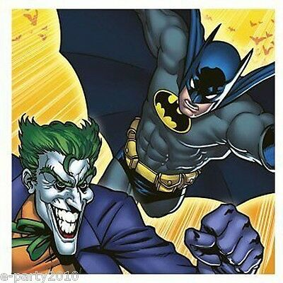 BATMAN Dark Knight LUNCH NAPKINS (16) ~ Birthday Party Supplies Dinner - Jokers Party Supplies
