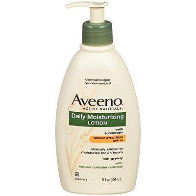 Aveeno Active Naturals Daily Moisturizing Lotion SPF15 12.0 Oz Active Daily Moisture Lotion
