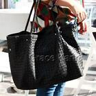 Black Leather Hobo Tote Handbags