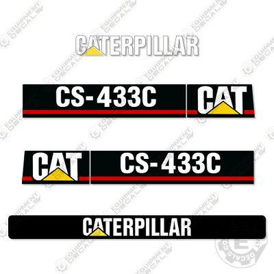 Caterpillar Cs433c Vibratory Smooth Drum Roller Decals Cs 433 C