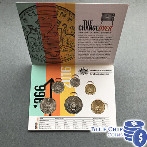 2016 $1 THE CHANGEOVER 50 YEARS OF DECIMAL CURRENCY /'/'C/'/' MINTMARK COIN RAM