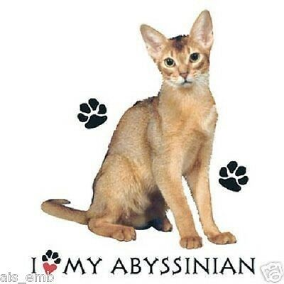 Abyssinian Cat Heat Press Transfer T Shirt Sweatshirt Fabric Tote Fabric 290c