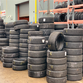 Nearly new tyres from £25