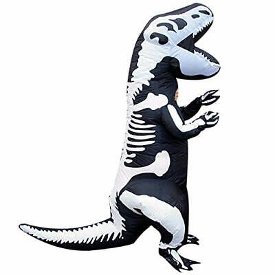 Morph Kids Skeleton Dinosaur T-Rex Inflatable Costume, Slight Color Run KID Size