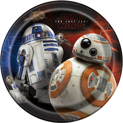 Star Wars Birthday Party Supplies (STAR WARS The Last Jedi SMALL PAPER PLATES (8) ~ Birthday Party Supplies)