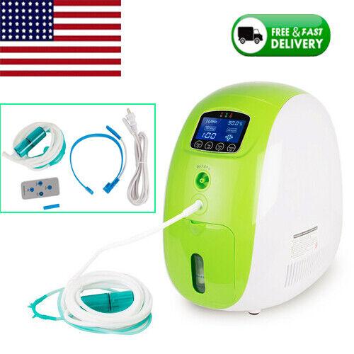 1-5L Adjustable Oxy-Bar-Generator O2 Concentrator Machine Air Purifier Home FDA