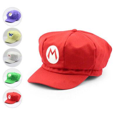 Luigi Super Mario Bros Cosplay Snapback Baseball Cap Hat Mütze Kappe BaseCap Hut ()