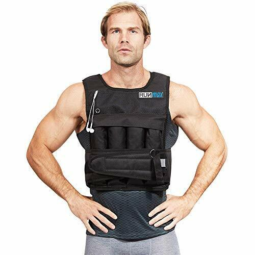 RUNFast/Max 12lbs-140lbs Adjustable Weighted Vest Without Shoulder Pads 20lbs