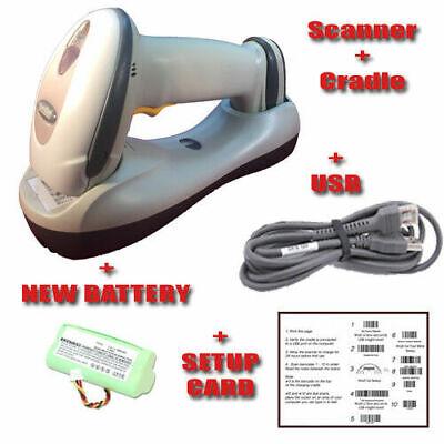 Motorola Symbol Ls4278 Cradle Wireless Barcode Scanner Bluetooth New Battery
