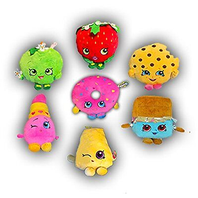 "Brand New Set of 7: Shopkins 7"" Deluxe Plush Figures Stuffed Authentic Licensed"