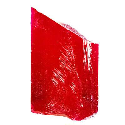 CLEAN & CLEAR 149.90 Ct RED RUBY ROUGH LAB CREATED CORUNDUM GEM STONE