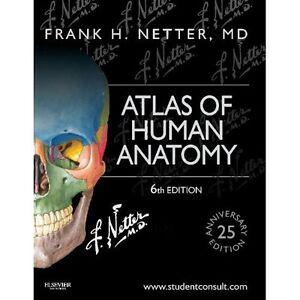 Atlas of Human Anatomy 6e Frank H. Netter Saunders PB / 9781455704187