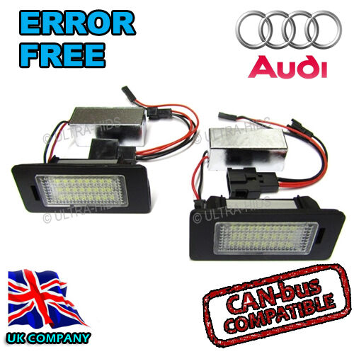 Audi A5 08-on SUPER STRONG Canbus Bright White LED Number Plate 36mm C5W Bulbs