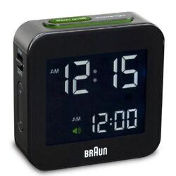 (Black) - Braun Mens Digital Square Alarm Clock. Huge Saving