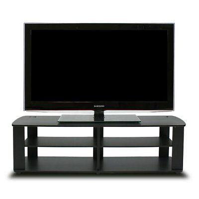 11191bk the entertainment center tv stand black