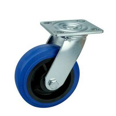 6 Inch Caster Wheel 617 Pounds Swivel Thermoplastic Rubber Top Plate