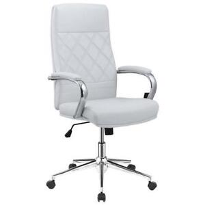 Picket House FFAT126SW Atkins Ergonomic Mid-Back Executive Office Chair  White (New other)