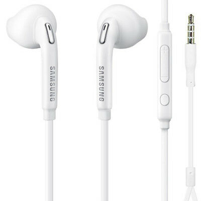 (New AUTHENTIC For SAMSUNG HANDS-FREE HEADSET OEM EARPHONES WIRED EARBUDS w/ MIC)