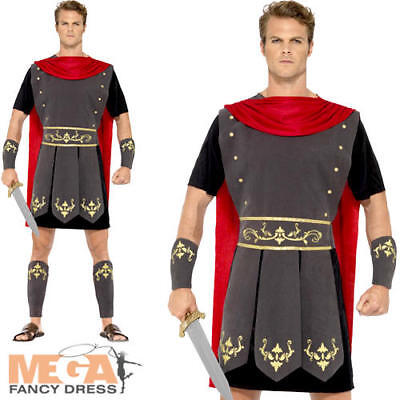Roman Gladiator Mens Fancy Dress Ancient Greek Warrior Soldier Adult Costume - Ancient Greek Warrior Costume