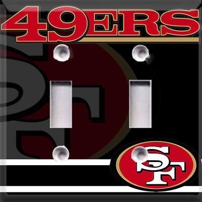 Football San Francisco 49ers Black Themed  Light Switch Cover Choose Your Cover](49ers Theme)