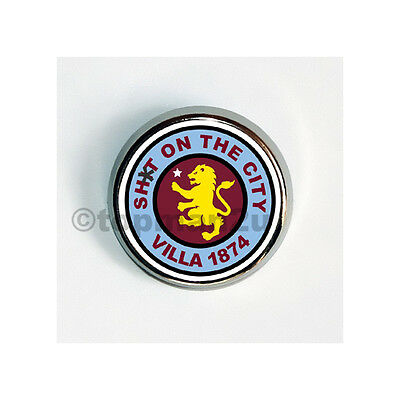 New, Quality Round Metal Pin Badge - Villa SOTC, Lion, Anti-Blues