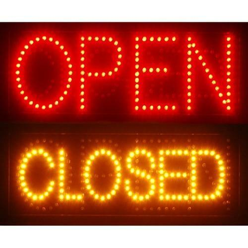 Led Open Closed Sign Ebay