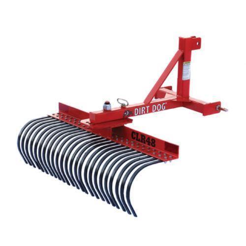 Landscape Root Rake : Tractor landscape rake heavy equipment attachments