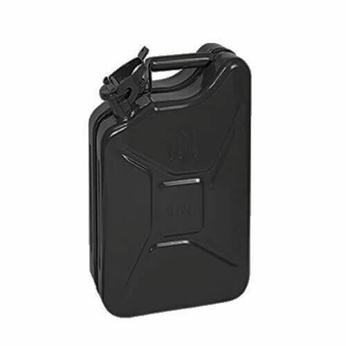 10L 10 LITRE GREEN METAL JERRY CAN FUEL PETROL DIESEL STEEL WATER CONTAINER CAR