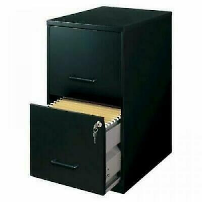 File Cabinet Document Modern Heavy Duty Black Vertical Metal Small Storage Lock