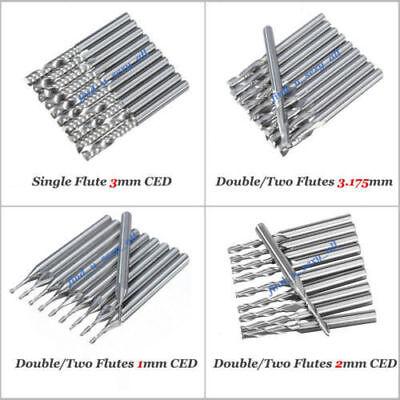 End Mill Carbide Single 1 Flute Two 2 Flutes 3mm 3.175mm Cnc Router Bits Set L60