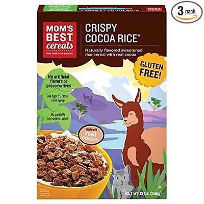 Mom's Best Cereals Crispy Cocoa Rice Cereal 13 oz (Pack of 3) Crispy Brown Rice Cereal