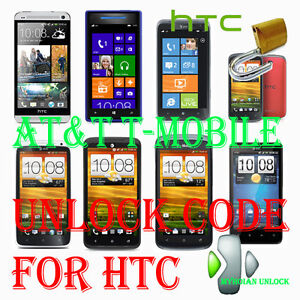 Unlock code T-MOBILE AT&T HTC One X Titan II 8X Vivid First One Mini