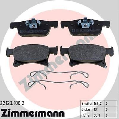 ZIMMERMANN Bremsbelagsatz 22123.180.2 Opel