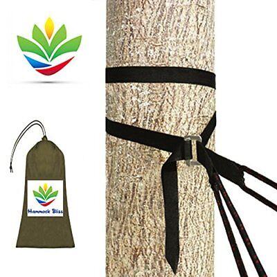 Hammock Bliss Deluxe Cinching Tree Straps - Heavy Duty & Extra Long Adjustable -