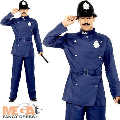 London Bobby Mens Fancy Dress Policeman Officer Uniform Occupation Adult Costume - Bobby Uniform
