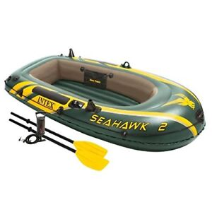 Intex Seahawk 2, 2-Person Inflatable Boat Set with French Oars