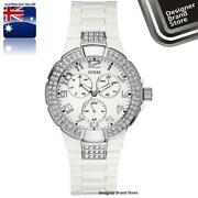 Guess White Ladies Watch