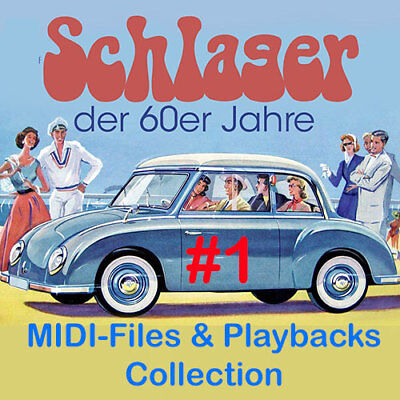 Die besten Schlager der 60er #1 - Midifiles inkl. Playbacks