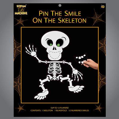 Steck den Smile On The Skelett Halloween Partyspiel
