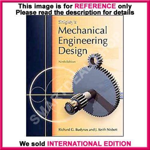 shigleys mechanical engineering design ebay
